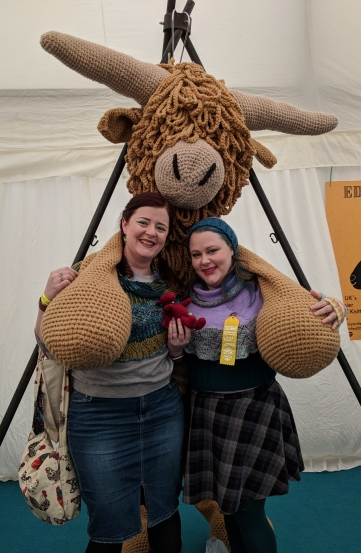 Us with Jo dragon and Morag the Coo