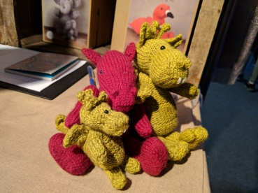 Jo dragon with Dennis and Mini Dennis