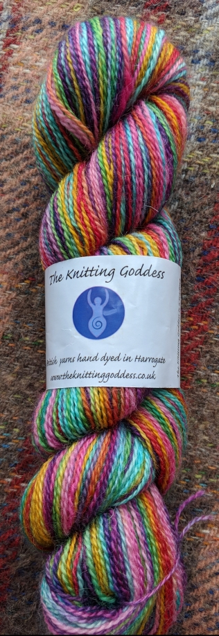 Knitting Goddess BFL/mohair sock yarn