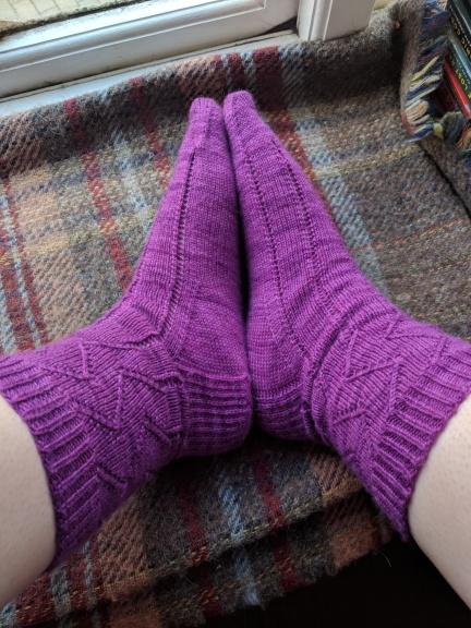 Curses Socks, sideways view
