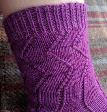 Curses Socks, cuff view